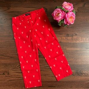 Talbots lobster embroidered Capri pants, size 2P